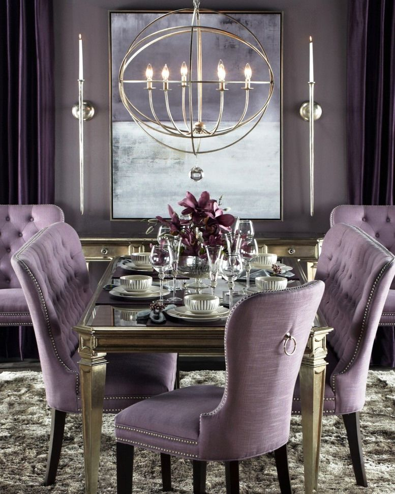 Purple Dinning Room For Fancy Dinners And Brunches