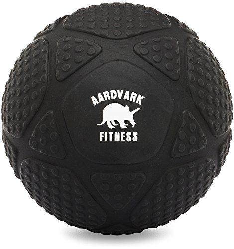 """Jumbo 5"""" Massage Ball for Trigger Point Therapy, Deep Tissue Mobility and Myofascial Release (Black)"""