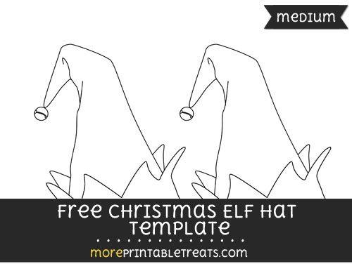free christmas elf hat template medium bulletin boards
