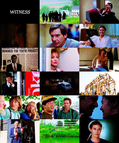 p-explains-it-all:  a-movie-a-day: #108  Witness (1985) Directed by:Peter Weir Starring: Harrison Ford, Kelly McGillis, Lukas Haas, Danny Glover, Brent Jennings, Josef Sommer,Patti LuPone,Viggo Mortensen Plot: A police officer hides out in Amish country to protect a boy who witnessed a murder.