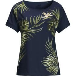 Photo of Jack Wolfskin T-Shirt Women Tropical Leaf T-Shirt Women M blue Jack Wolfskin