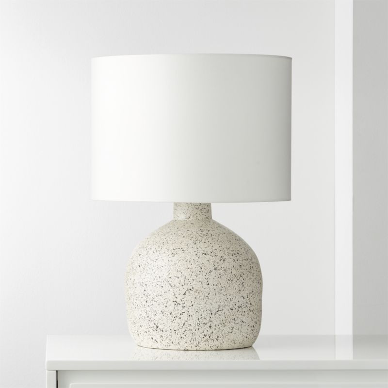 Largo Speckled White Ceramic Table Lamp Reviews Cb2 Concrete Table Lamp Contemporary Table Lamps Ceramic Table Lamps