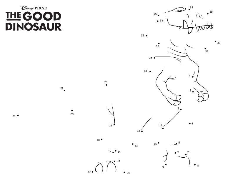Раскраска Хороший динозавр по точкам | Раскраски, Игры ...