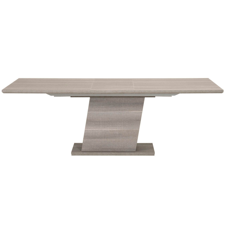 Forte Extension Dining Table Matte Grey Oak Eco Veneer