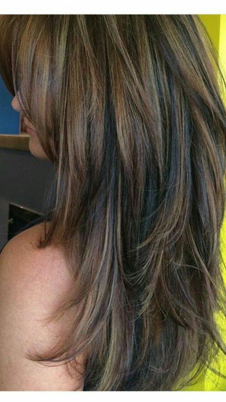 Pin By Xinia Maria Camacho Alfaro On Hairstyles Thick Hair Styles Long Layered Hair Medium Hair Styles