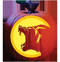 Werewolf Pumpkin Carving Pattern Pumpkin Masters Halloween