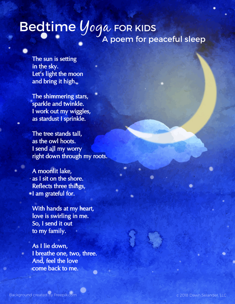 Bedtime Yoga for Kids - A poem for peaceful sleep for your child