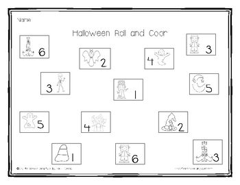 This is a fun dice game for counting and number recognition for numbers 1-6. Give each student a dice and have them roll and color the corresponding number (free!!)