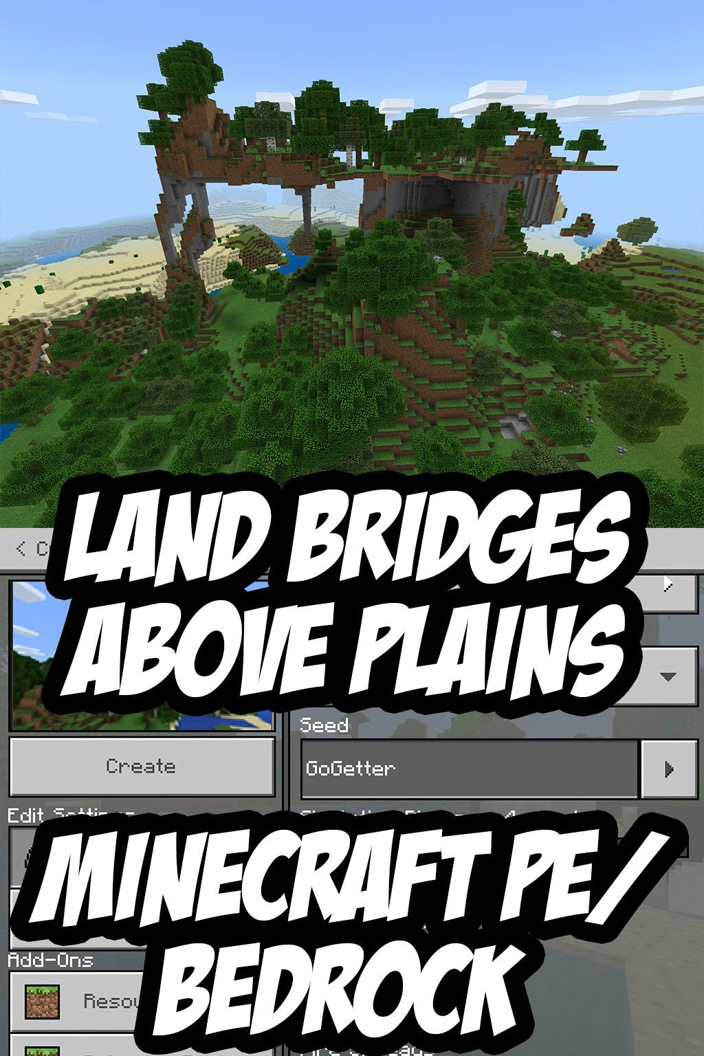 Minecraft Pe Bedrock Edition Extreme Hill Seed Gogetter 1043658803 Minecraft Pe Minecraft Houses Minecraft