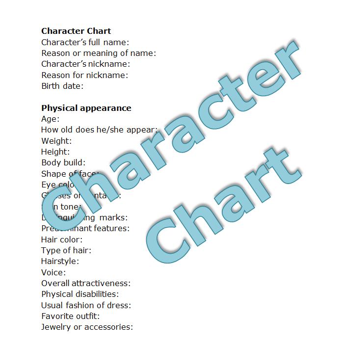 A detailed Character Chart   Writing   Pinterest   Character sheet ...