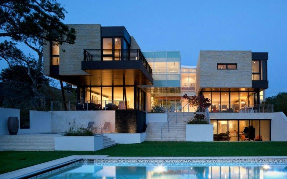 Moderne luxushäuser mit pool  Pin von Naomi Herrera auf Architectural Designs ♧ | Pinterest