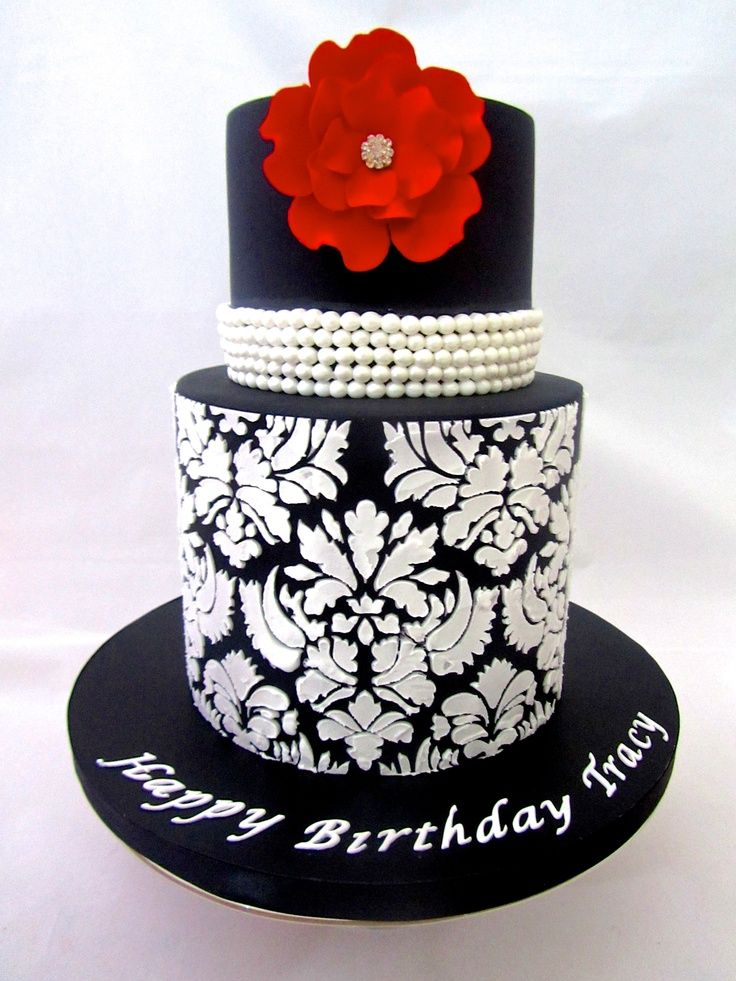 Elegant cakes for womans birthday 50th party Pinterest Cake