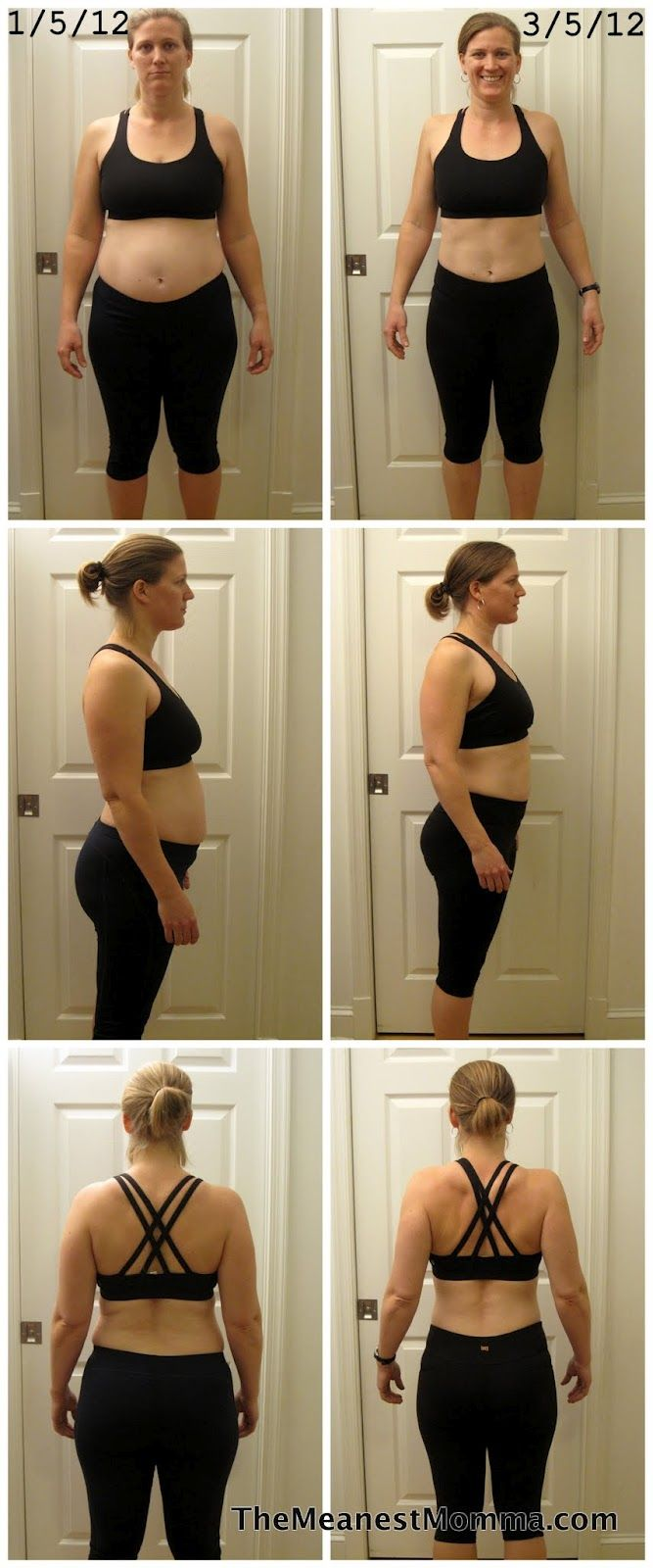 5 months of dieting exercise woman