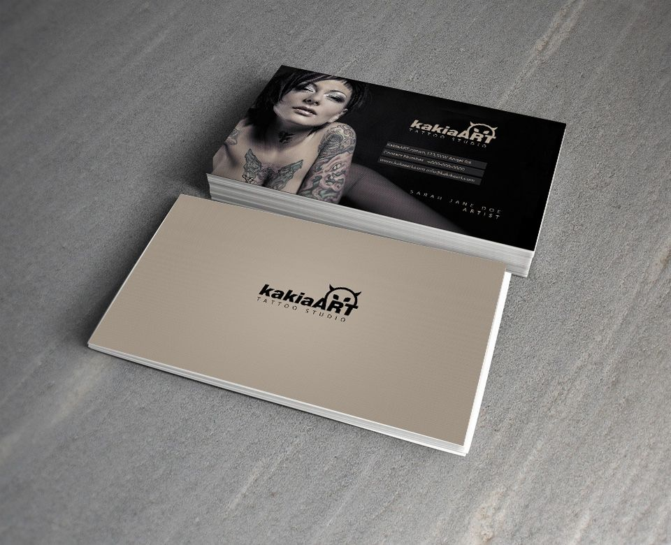 Kakia tattoo studio free psd business card by mct2art psd mockup kakia tattoo studio free psd business card flashek Images