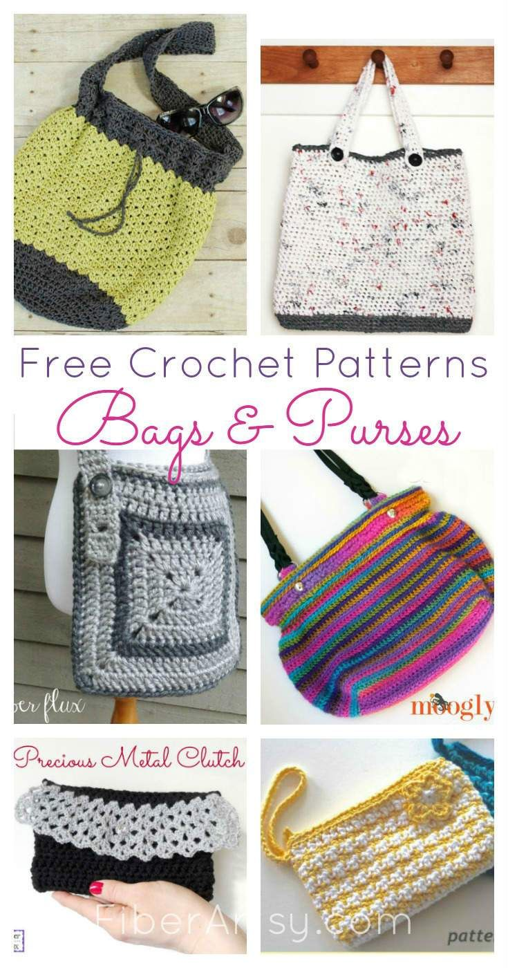 Free Crochet Patterns for Purses and Bags | Hobi | Pinterest ...