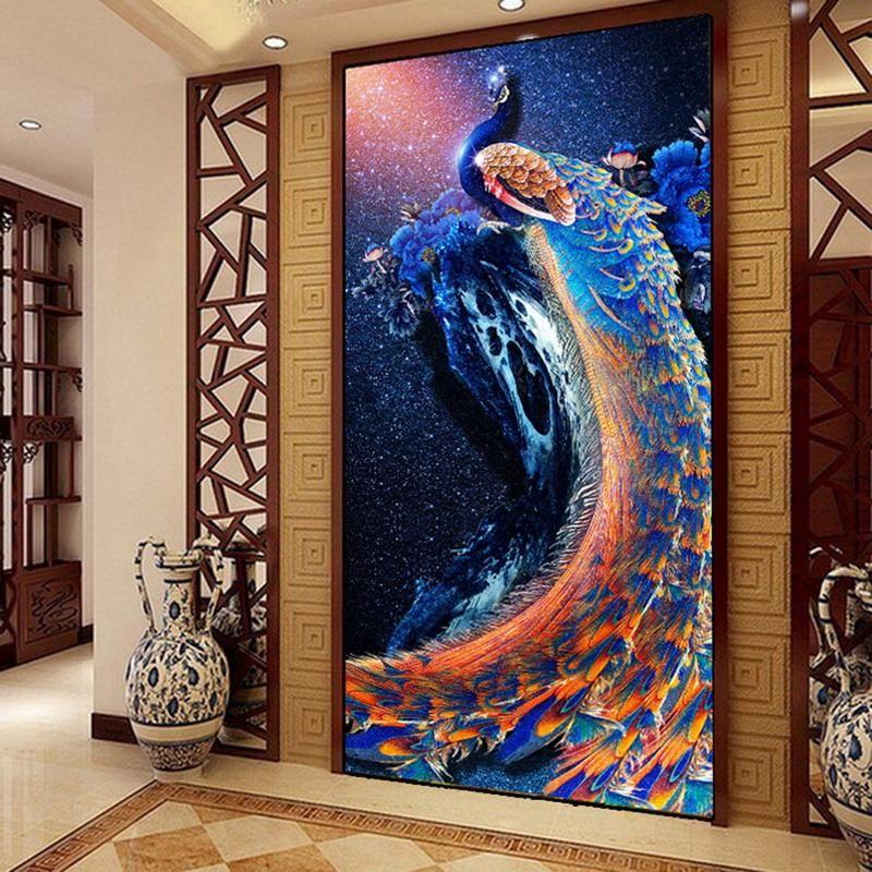 Diamond Painting Blauer Pfau Diy Sewing Needlework Und Sewing