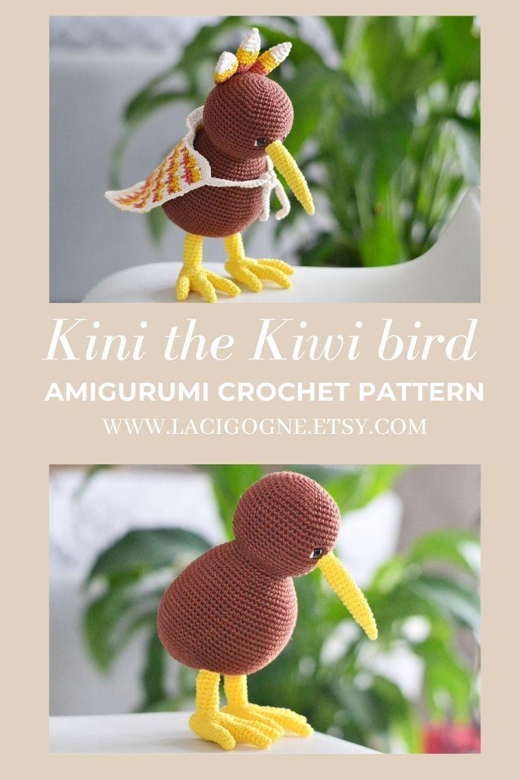 Kirk and Wilma the kiwis amigurumi pattern - Amigurumipatterns.net | 1102x735