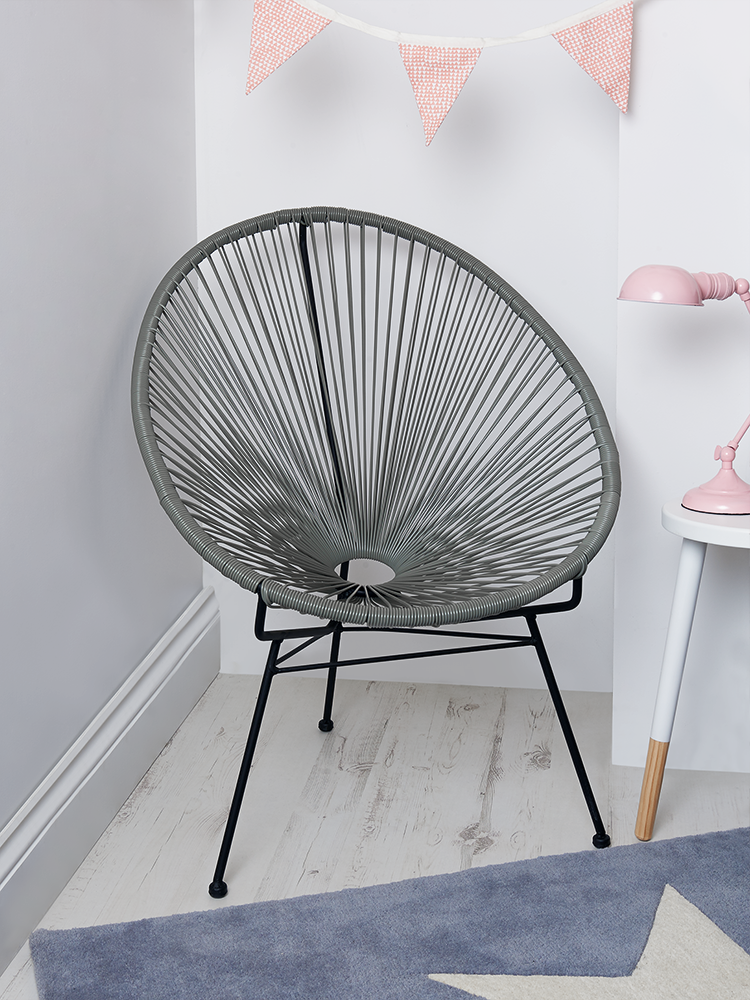 New Grey String Chair New For Autumn Indoor Living