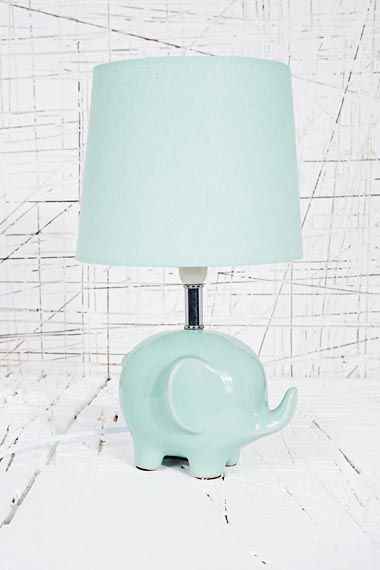 Elephant Lamp Uk Plug In Mint At Urban Outers