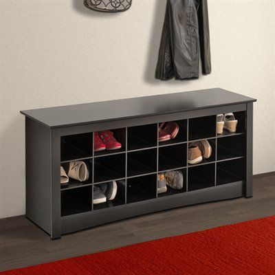 171 Prepac Furniture Shoe Storage Cubbie Bench Home Showroom