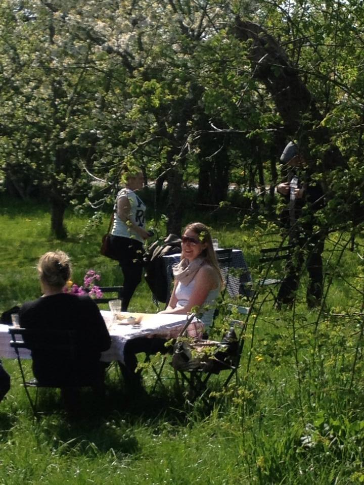 Cafe garden at Fuglebjerggaard
