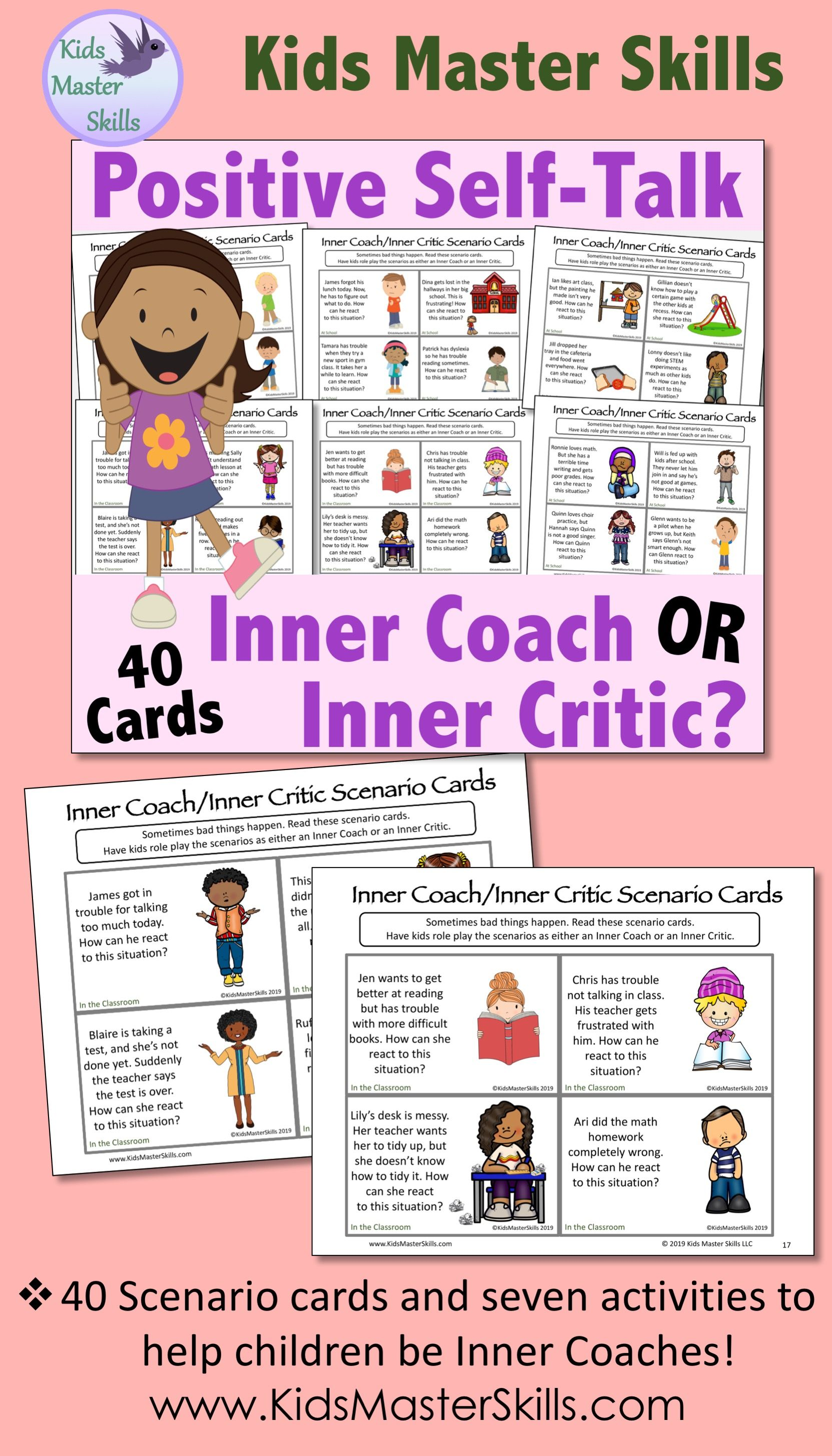 Inner Coach Or Inner Critic Positive Self Talk Activities
