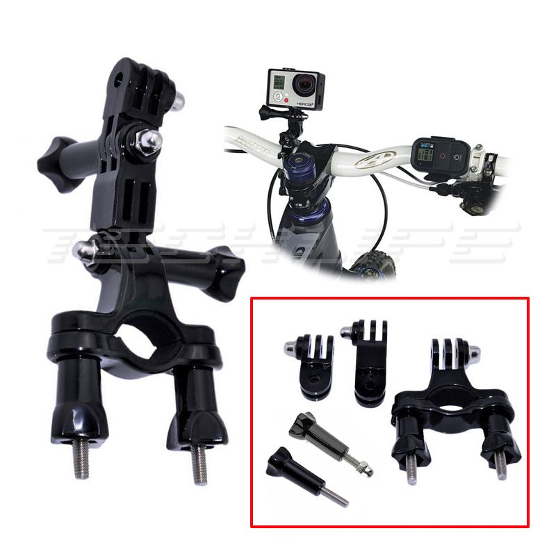 Bicycle Handlebar Mount Bike Seatpost Roll Bar Holder for Gopro hero 5 4 SJCAM SJ4000 For H9 H9R Camera Adjust Pivot Arm