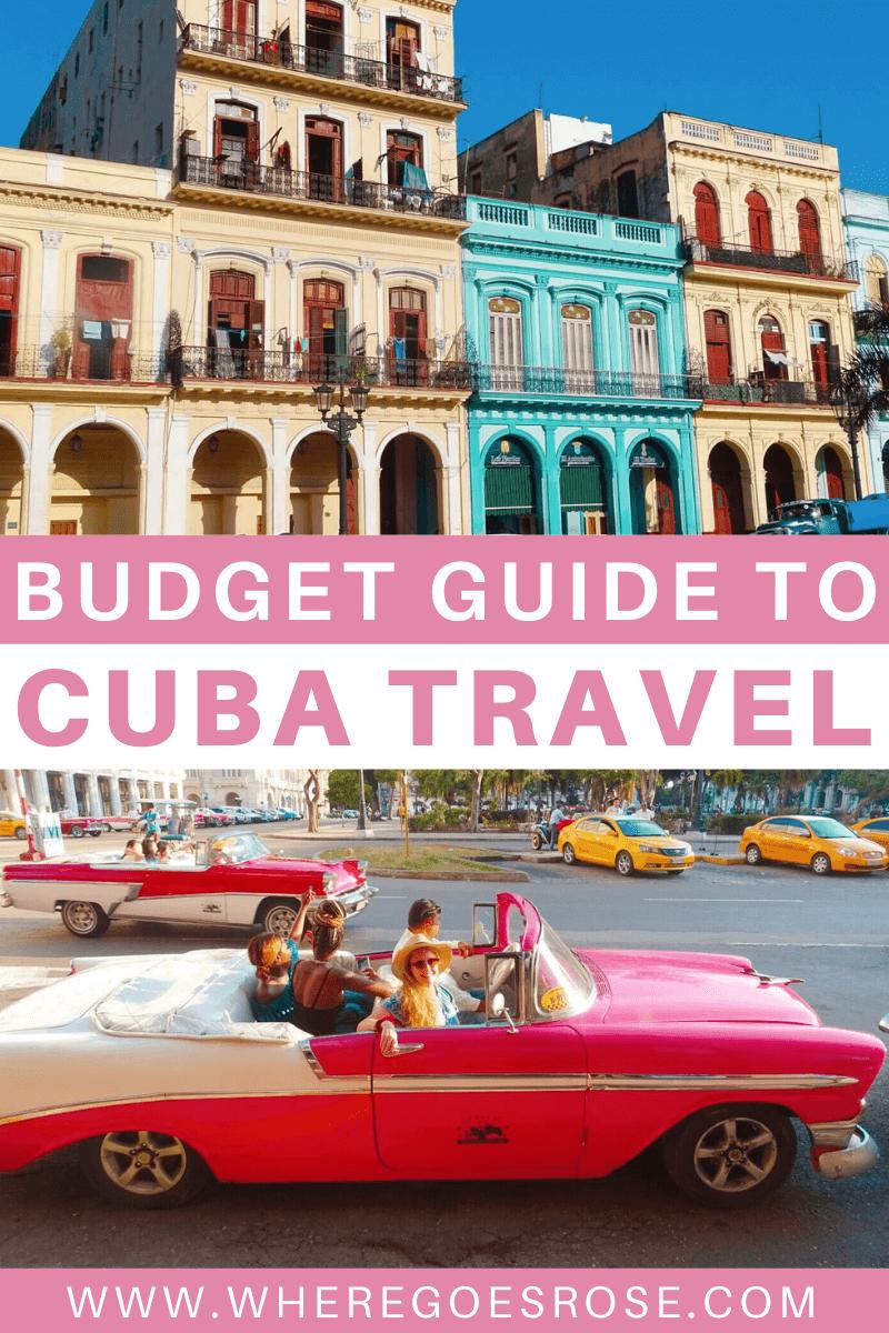 Guide to visiting Cuba on a budget including Cuba costs and tips for Cuba budget travel #cuba #cubabudget #cubatravel