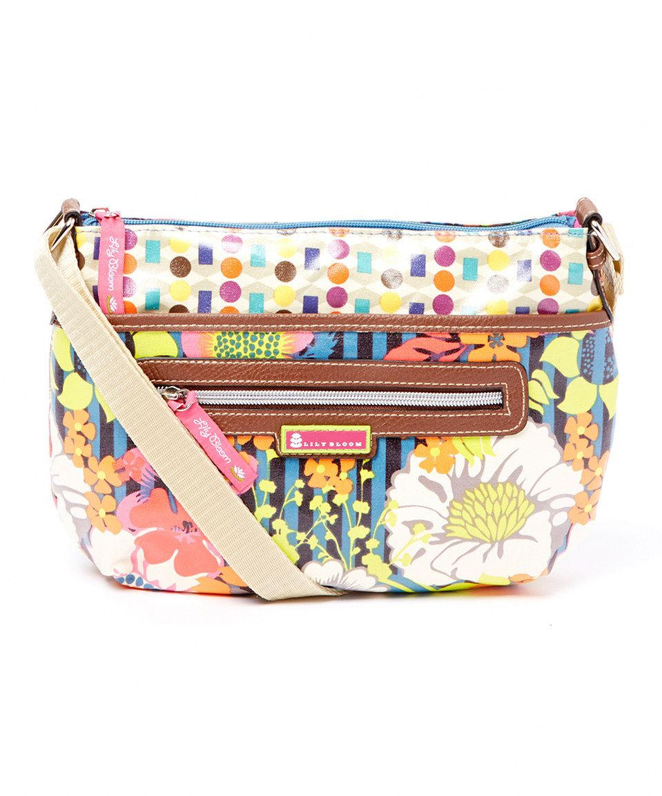 Look what I found on #zulily! Lily Bloom Pink & Yellow Floral Garden Tracy Crossbody Bag by Lily Bloom #zulilyfinds
