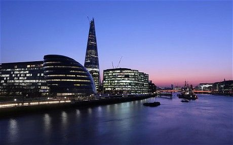 "July 5, 2012: The Shard to be unveiled with spectacular laser show  Europe's tallest building will be officially unveiled in central London tonight, as the Shard is illuminated by a ""spectacular"" laser show for a grand public inauguration."