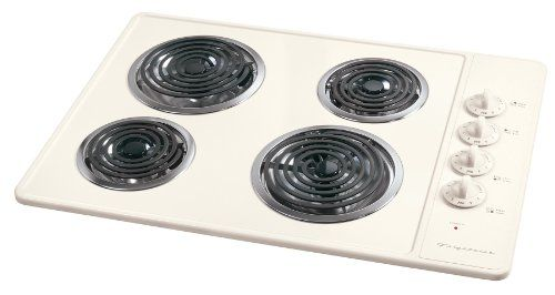 Frigidaire 30 Inch Bisque Coil Electric Cooktop Fec30c4aq 199 00 Electric Cooktop Cooktop Stove