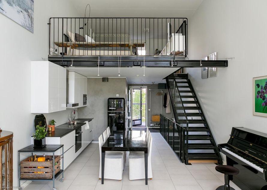 Tyylikkäästi mustaa ja valkoista loftissa | Oikotie - Kotiin