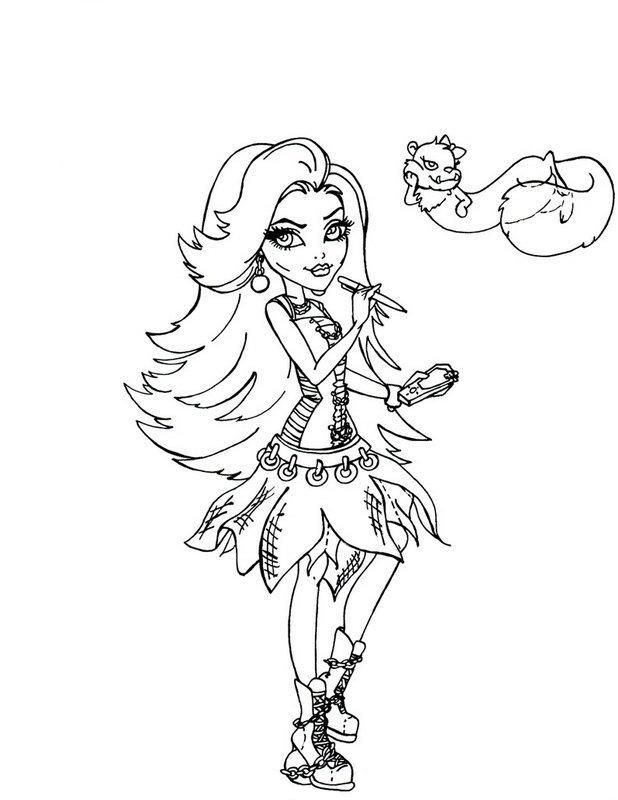Spectra Vondergeist Monster High Coloring Page girls Pinterest