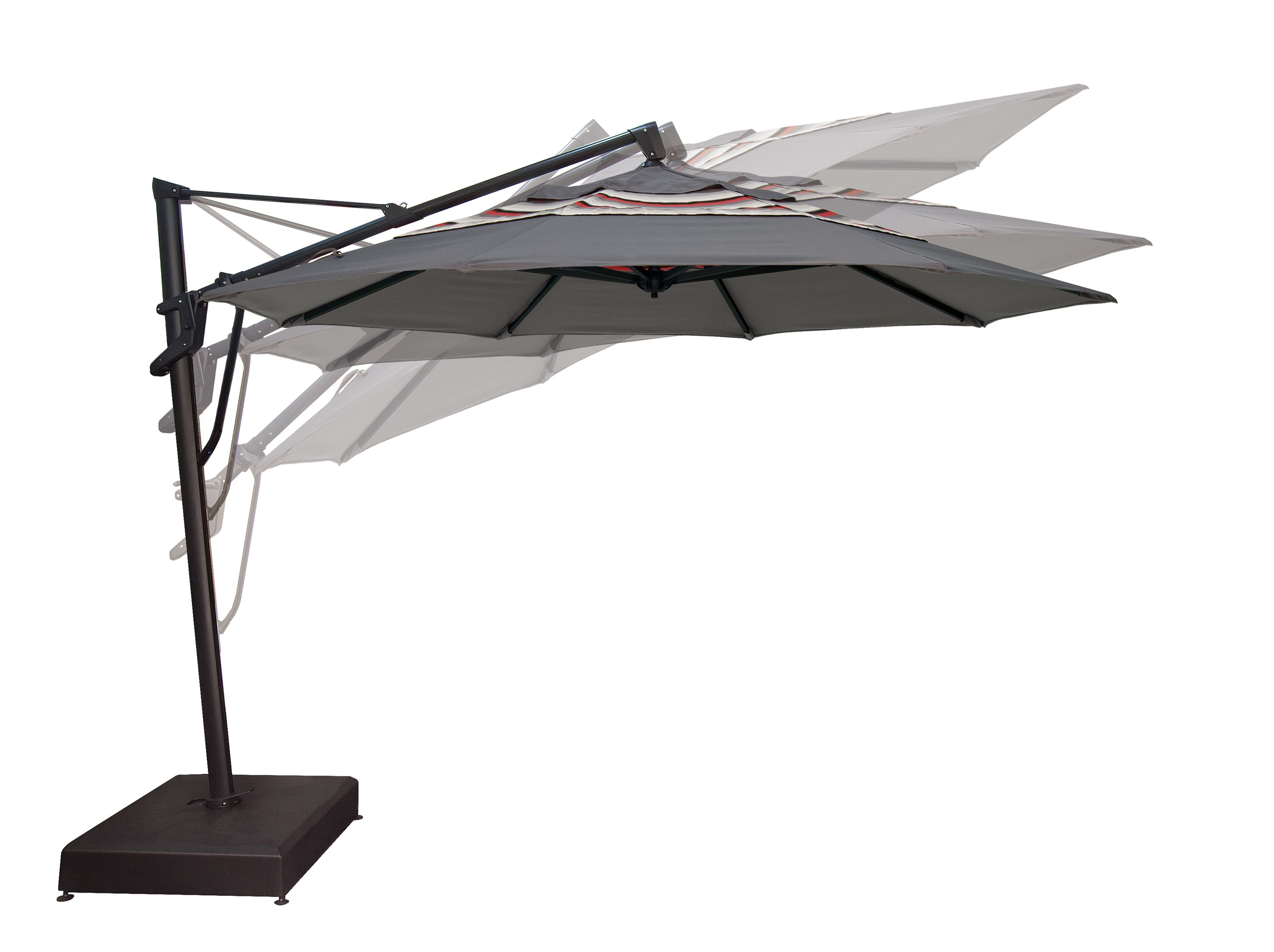 The Akz Plus Cantilever By Treasure Garden Has Been Designed To Provide Infinite Vertical Tilt As Well As Cantilever Umbrella Umbrella Patio Umbrella
