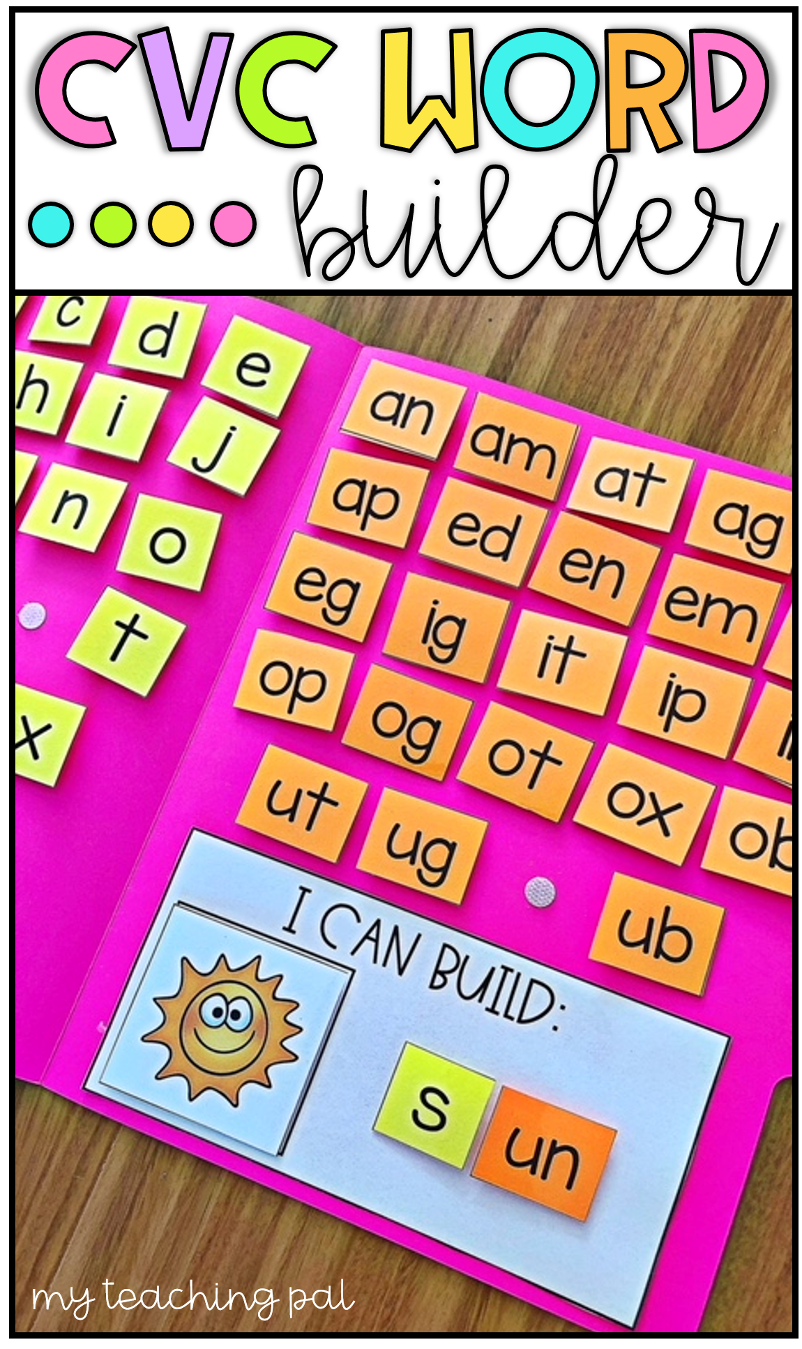 Cvc Word Builder Activity