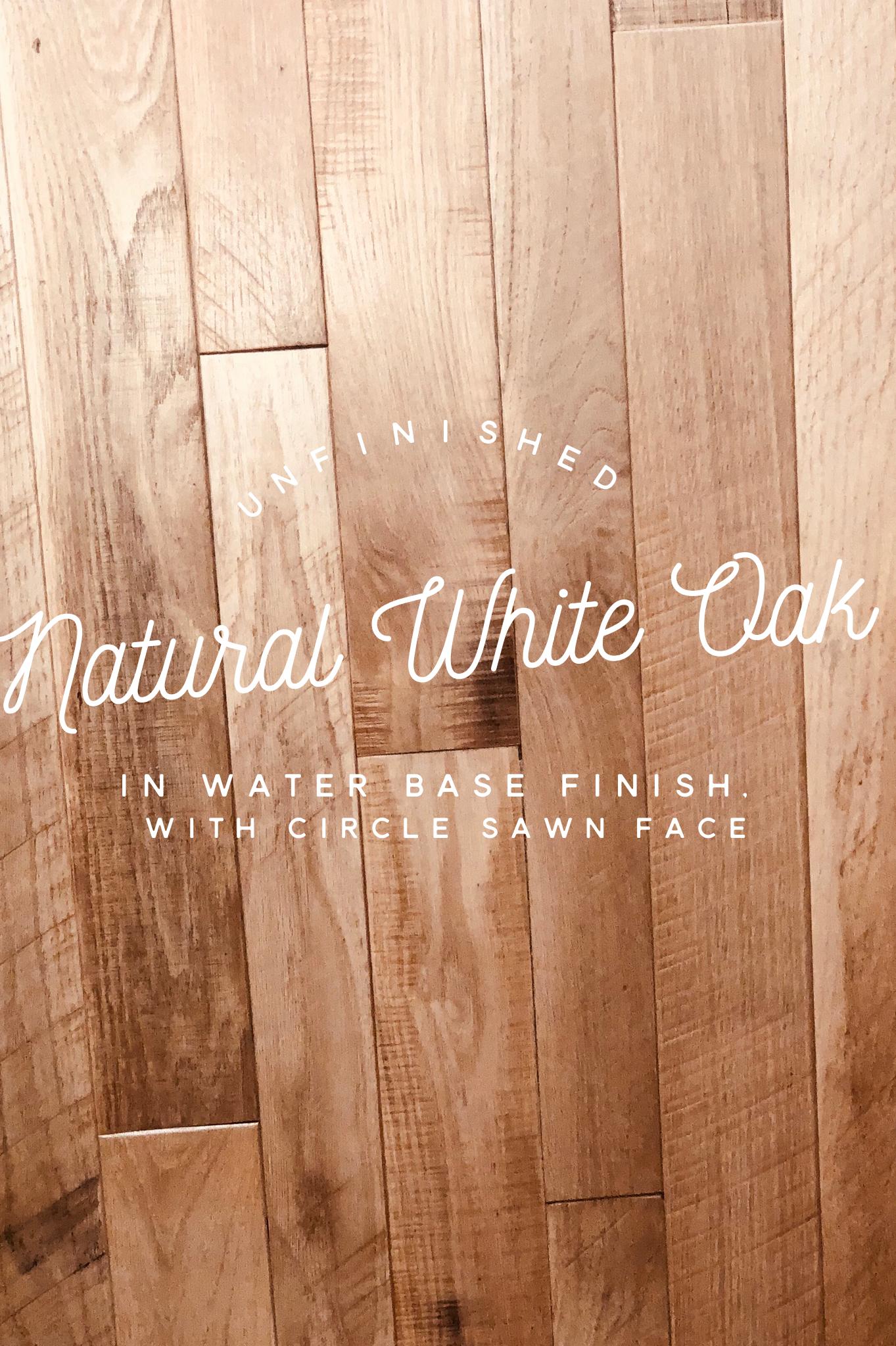 Munday Hardwoods Inc Is Offering Unfinished Natural White Oak Circle Sawn Face Hardwood Flo White Oak Hardwood Floors Wood Floors Wide Plank White Oak Floors