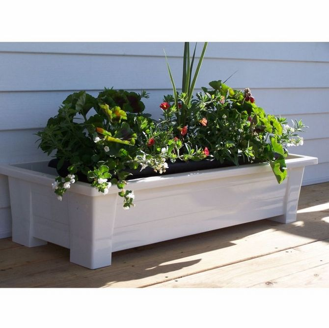 Raised Planters On Legs: Planters With White Branches