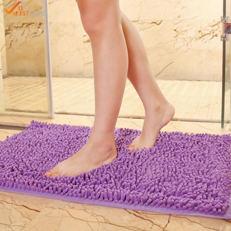 40x60cm 15 X23 Purple Slip Bath Mat Anti Slip Washing Machine