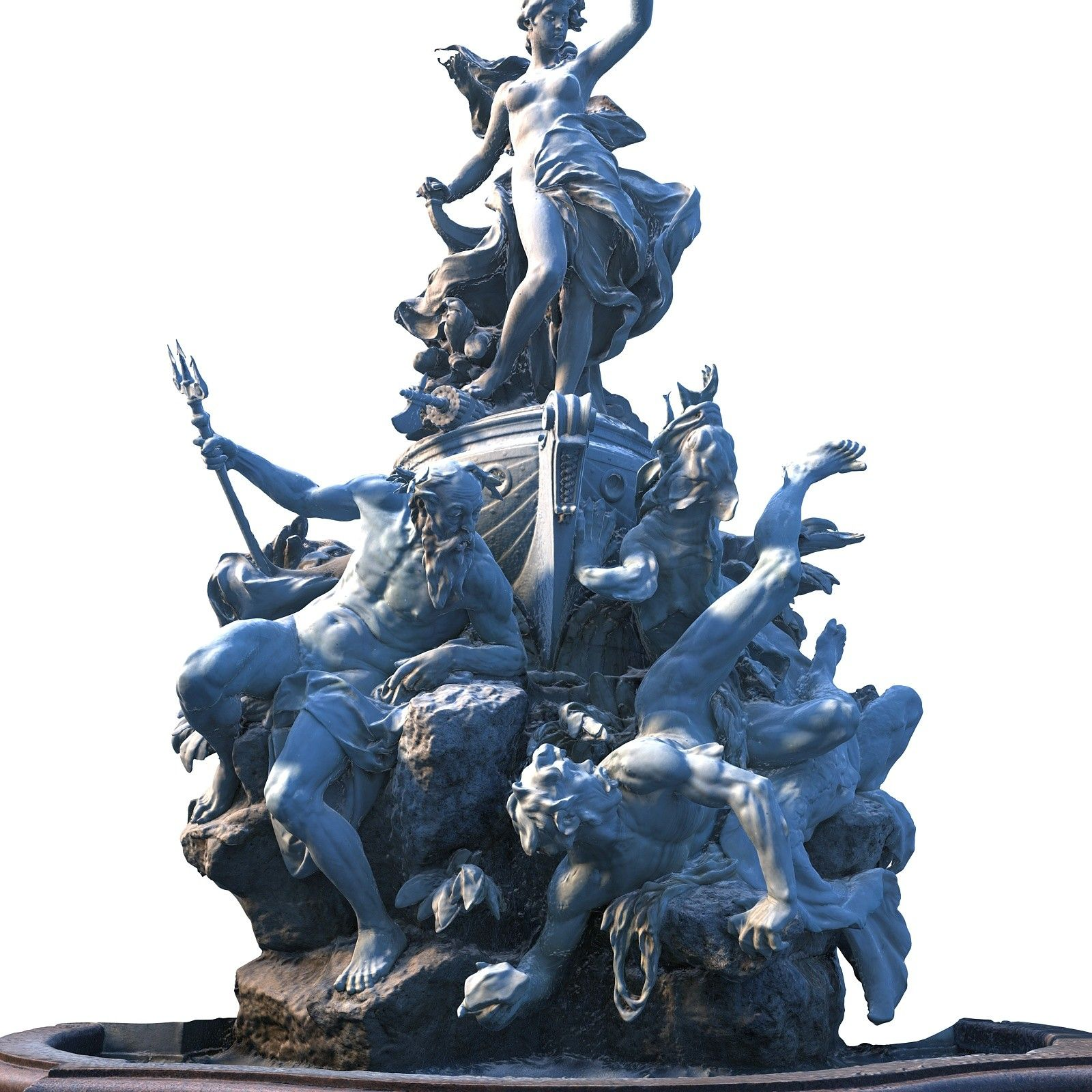 fountain monumen 3d model Angel statues, Statue, Fountain