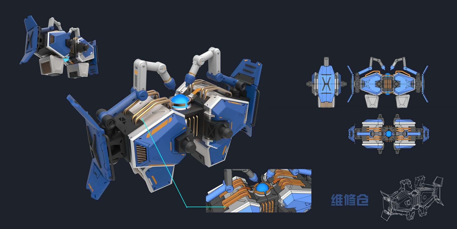 Artstation concept design for mobile game galaxy rebels xu wang