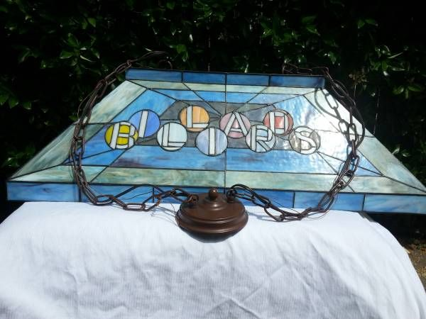 Stained Gl Pool Table Light