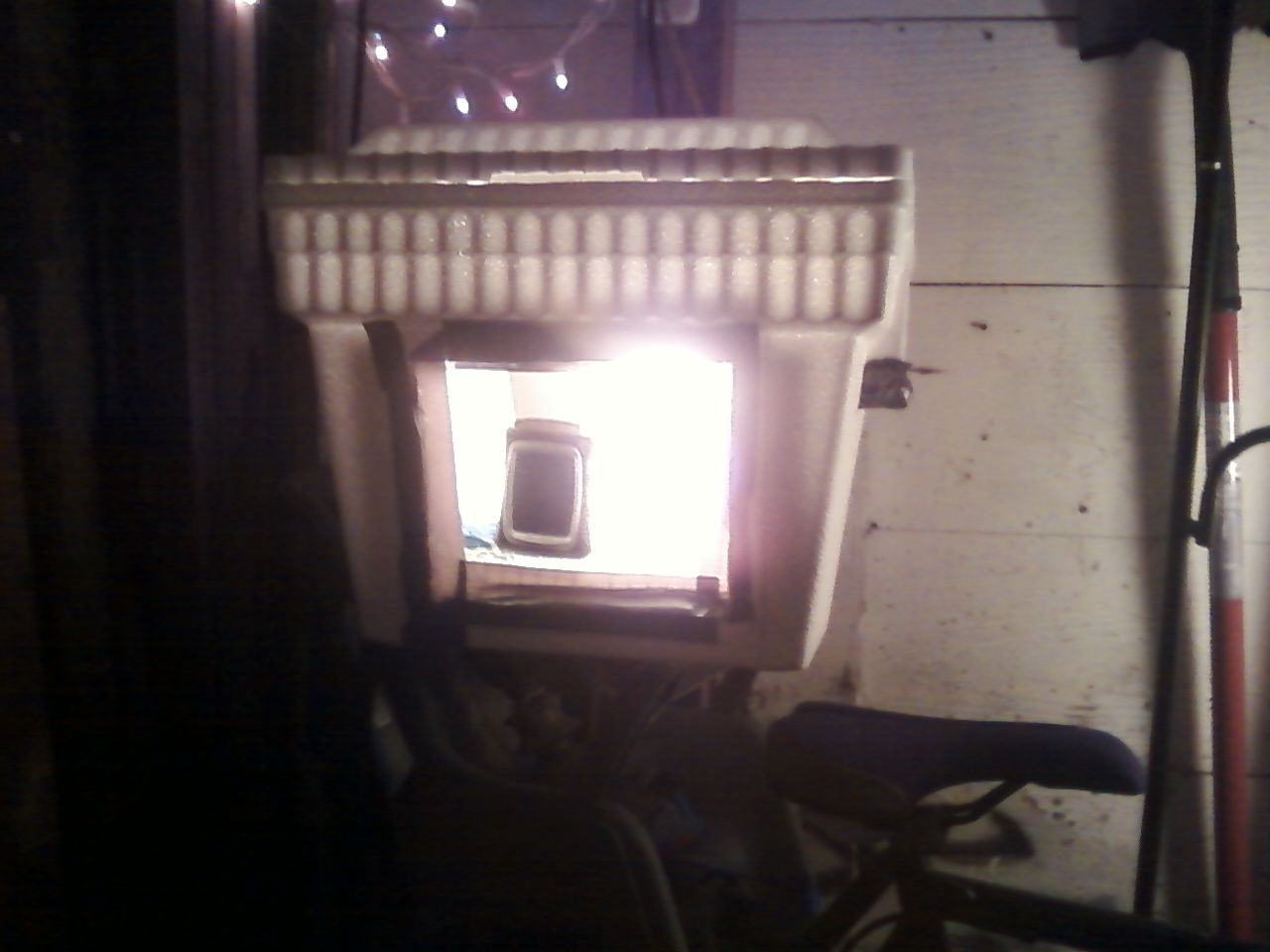 Diy Quail Chicken Incubator Temperature Regulated By Thermostat Rewiring Old Lamp Used Rewired Through Water Heater