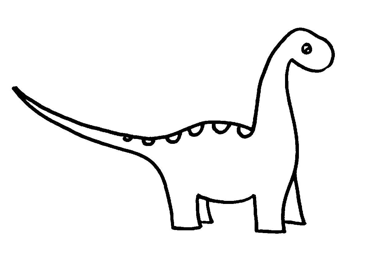 Coloriage Dino Dinosaur Drawing Easy Dinosaur Drawing Dinosaur Clip Art