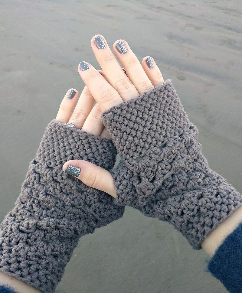 Chunky Fingerless Gloves Free Crochet Pattern Fingerless Gloves