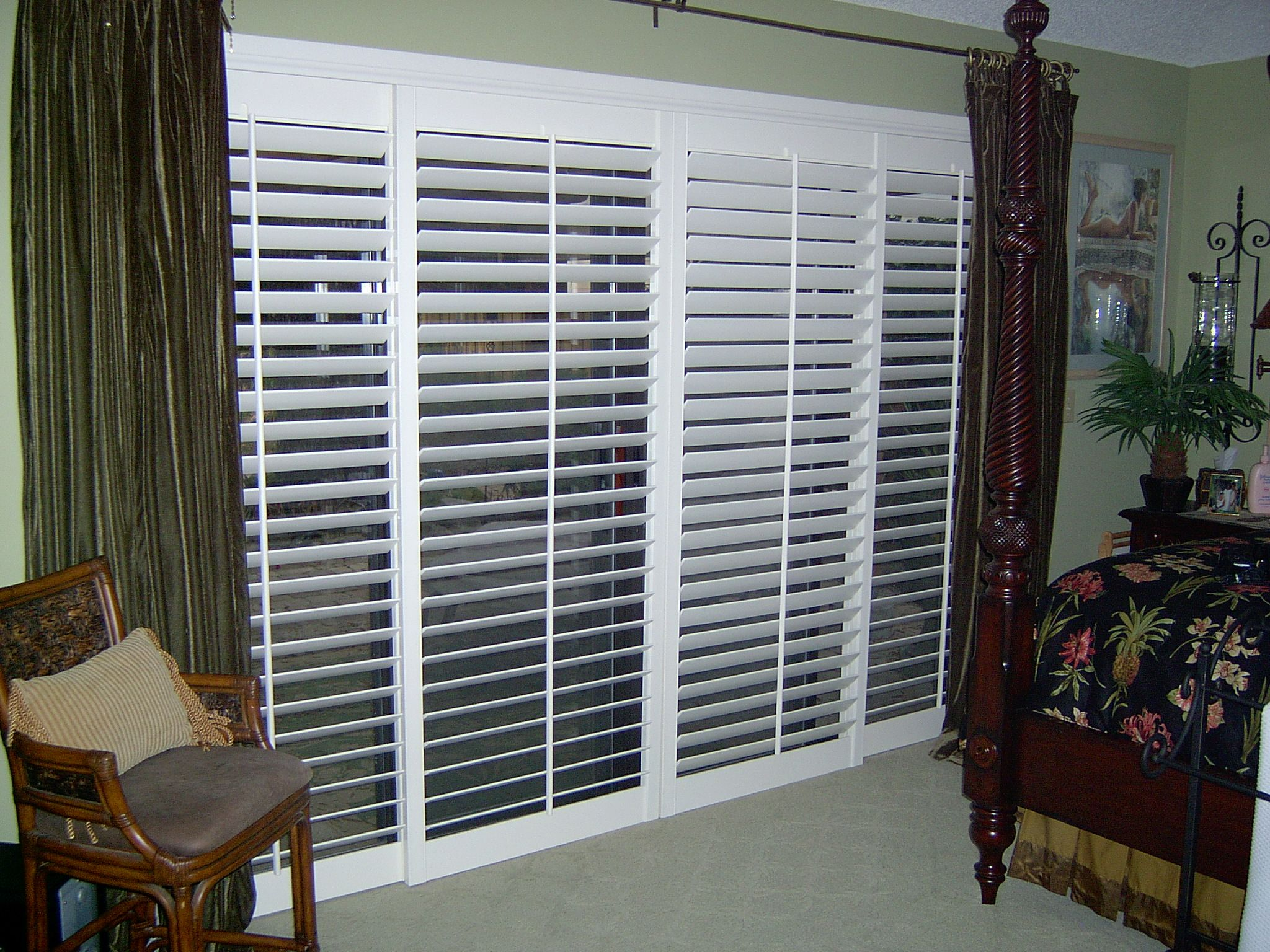 Shutters perfect for your sliding glass doors. Interior