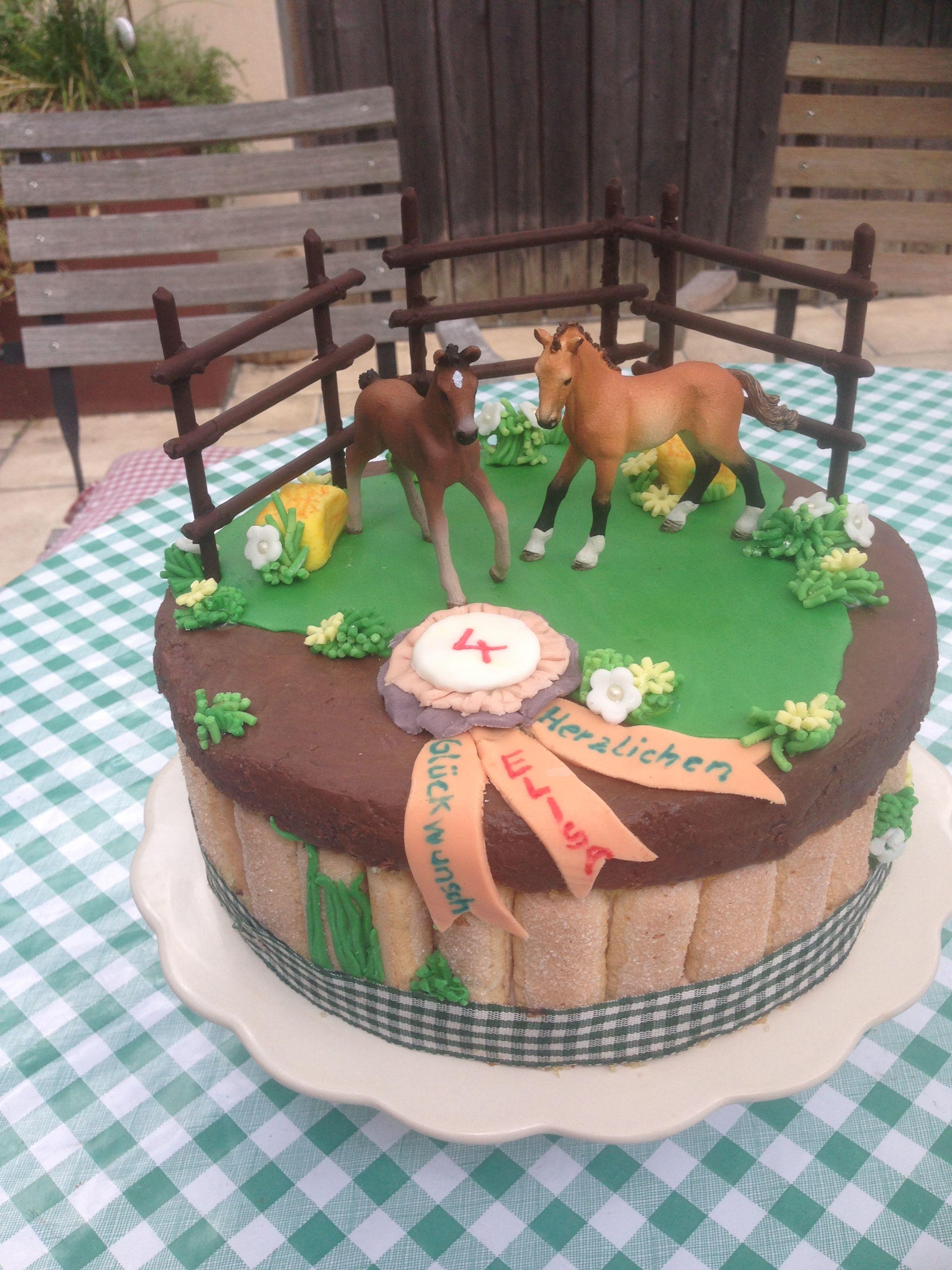 Elisas 4 Geburtstag Pferdekuchen Horsecake Kindergeburtstag