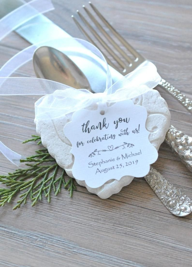 986ceb7a8 Beautifully imprinted floral and vines salt dough heart ornaments for  wedding