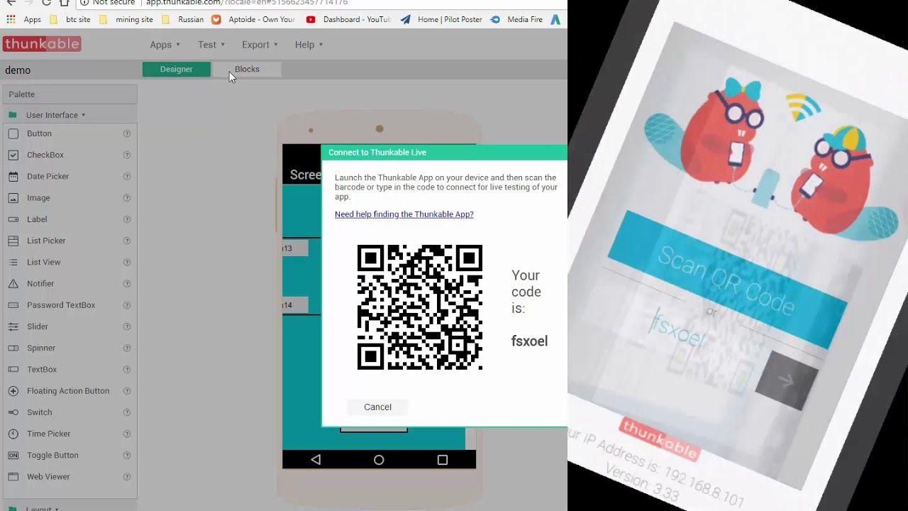 Thunkable Basic Tutorial how to use layout and set app logo