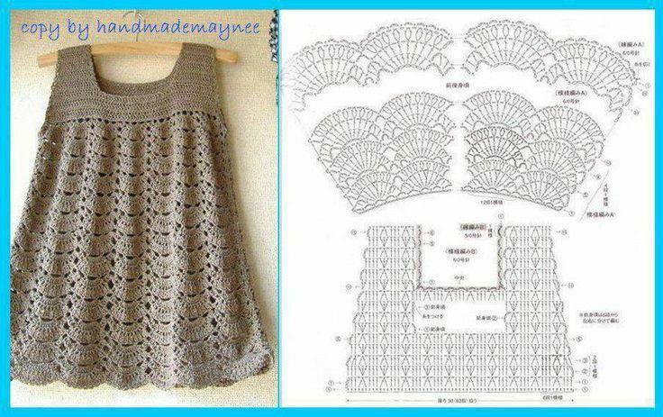 Vestido y diagrama | CROCHET PARA NIÑAS | Pinterest | Croché ...