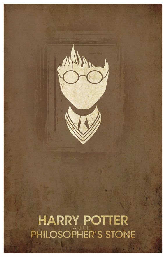 "Vintage Harry Potter Movie Poster - ""The Philosopher's Stone"""